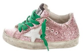 Golden Goose Deluxe Brand Girls' Glitter Superstar Sneakers