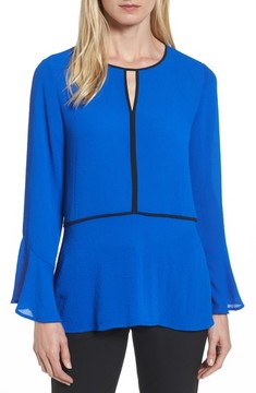 Chaus Women's Flare Sleeve Crepe Blouse