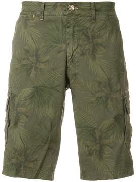 Jeckerson palm tree print cargo shorts