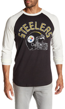 Junk Food Clothing Pittsburgh Steelers Raglan Tee