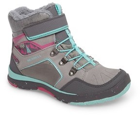 Merrell Girl's Moab Fst Polar Mid Waterproof Insulated Sneaker Boot