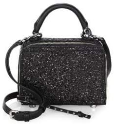 Rebecca Minkoff Glitter Box Leather Crossbody Bag - BLACK - STYLE