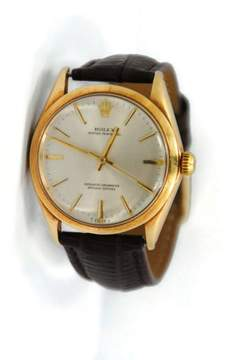 Rolex Oyster Perpetual 14K Yellow Gold Mens Watch