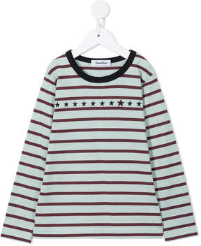 Familiar stripe and star print T-shirt