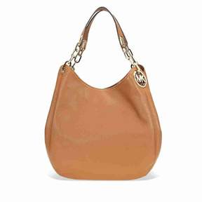 Michael Kors Fulton Leather Shoulder Bag- Acorn - BROWN - STYLE