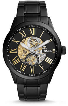 Fossil Flynn Pilot Mechanical Black Stainless Steel Watch