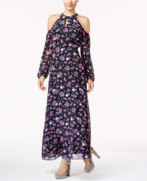 Bar III Cold-Shoulder Maxi Dress, Created for Macy's