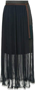 Kolor pleated belted skirt