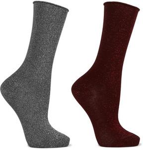 Falke Set Of Two Lurex Socks - Gray