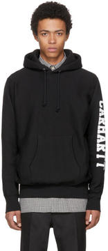 Junya Watanabe Black Carhartt Edition Logo Sleeve Hoodie