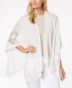 INC International Concepts I.n.c. Embroidered Fringe Cape, Created for Macy's