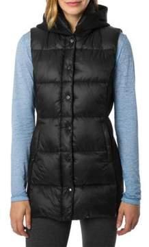 Betsey Johnson Hybrid Puffer Hooded Vest