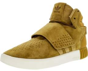 adidas Boy's Tubular Invader Strap Mesa / Original White High-Top Suede Basketball Shoe - 6M