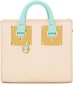 Sophie Hulme SSENSE Exclusive Pink and Blue Albion Box Tote