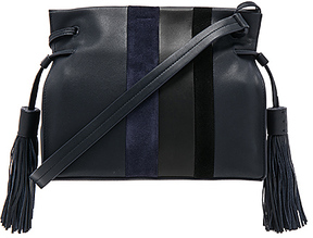 ALLSAINTS Casey Tassel Bag in Navy.