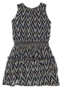 Imoga Toddler's, Little Girl's& Girl's Zig-Zag Dress