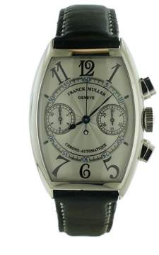 Franck Muller 5850CCDF Casablanca Chronograph 18K White Gold Automatic Mens Watch