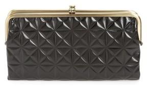 Hobo Women's Lauren Quilted Calfskin Leather Wallet - Black