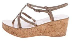 K Jacques St Tropez Suede Wedge Sandals