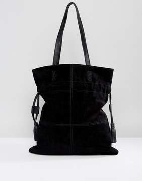 Asos Suede Drawstring Shopper Bag