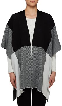 Allison Daley Colorblock Open Front Poncho