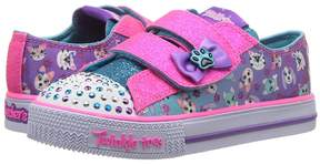 Skechers Shuffles - Princess Paw 10918N Lights Girls Shoes