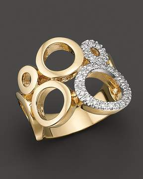 Bloomingdale's Circular 14 Kt. Yellow Gold and Diamond Ring, 0.25 ct. t.w.