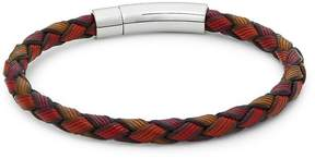 Tateossian Men's Sterling Silver and Leather Bracelet