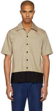 Ami Alexandre Mattiussi Beige and Black Colorblock Shirt