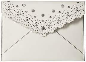 Rebecca Minkoff Leo Clutch Clutch Handbags - BIANCO 2 - STYLE
