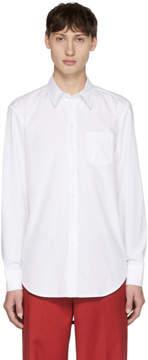 Yang Li Off-White Asymmetric Back Yoke Shirt