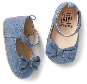 Gap Chambray mary janes