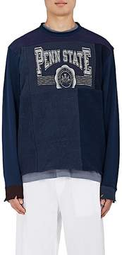Longjourney Men's Penn State Patchwork Cotton Sweatshirt