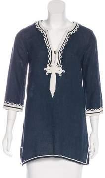 Calypso Embroidered Linen Tunic