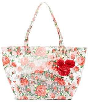 Betsey Johnson Clear Floral Tote Bag