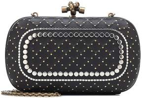 Bottega Veneta Knot embellished leather clutch