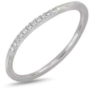 Bony Levy 18K White Gold Pave Diamond Detail Ring - 0.05 ctw