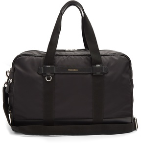 Dolce & Gabbana Leather-trimmed technical-twill holdall