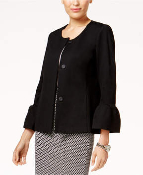 Alfani Collarless Bell-Sleeve Jacket, Created for Macy's