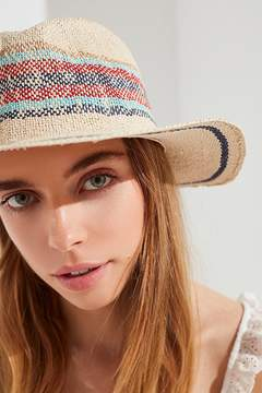 Urban Outfitters Yarn Dyed Stripe Straw Panama Hat