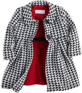 Bonnie Jean Toddler Girl Houndstooth Coat & Dress Set