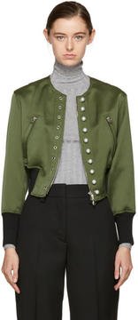 3.1 Phillip Lim Green Pearls Bomber Jacket