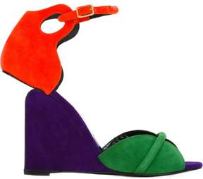 Pierre Hardy color block wedge sandals