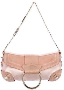 Dolce & Gabbana Satin & Suede D-Ring Bag