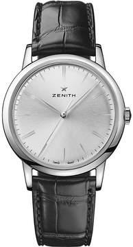 Zenith 03.2290.679/01.C493 Elite Classic alligator-leather watch