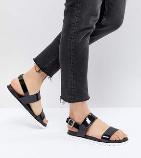 London Rebel Jelly Flat Sandals