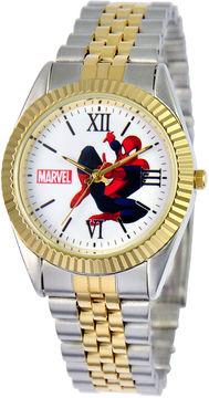 Marvel Disney Status Mens Spiderman Two-Tone Metal Bracelet Watch
