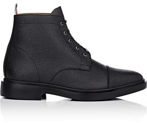 Thom Browne Men's Grained Leather Lace-Up Ankle Boots