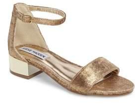Steve Madden Girl's Jirene Metallic Sandal