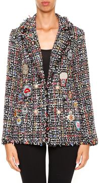 Edward Achour Tweed Jacket With Patches